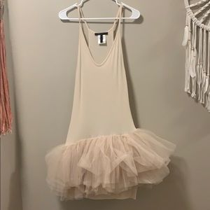 Bcbg blush/nude tutu tank dress